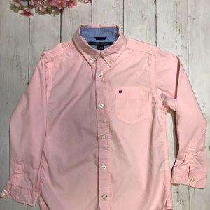 Girls pink Tommy Hilfiger button down shirt